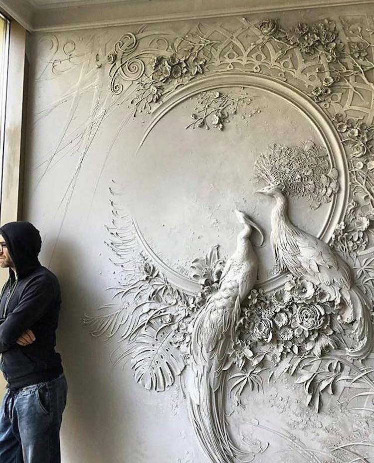 Intricate bas relief sculpture resembles