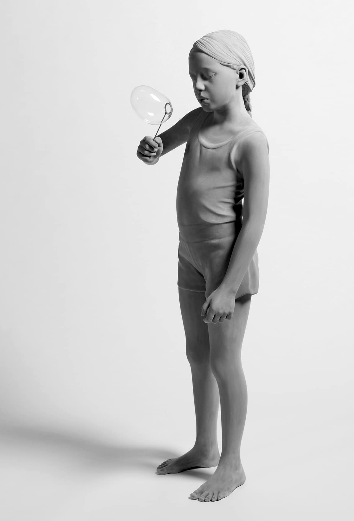 Tatiana (Soap Bubble) by Hans Op de Beeck