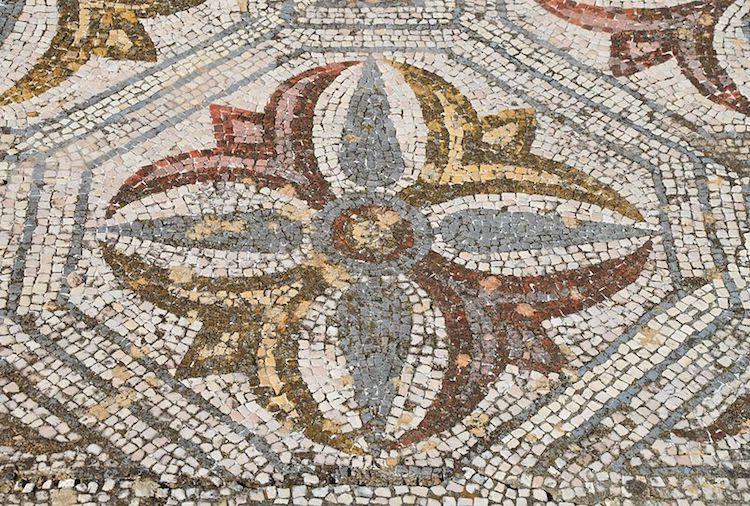 Mosaicos en villa romana en Portugal