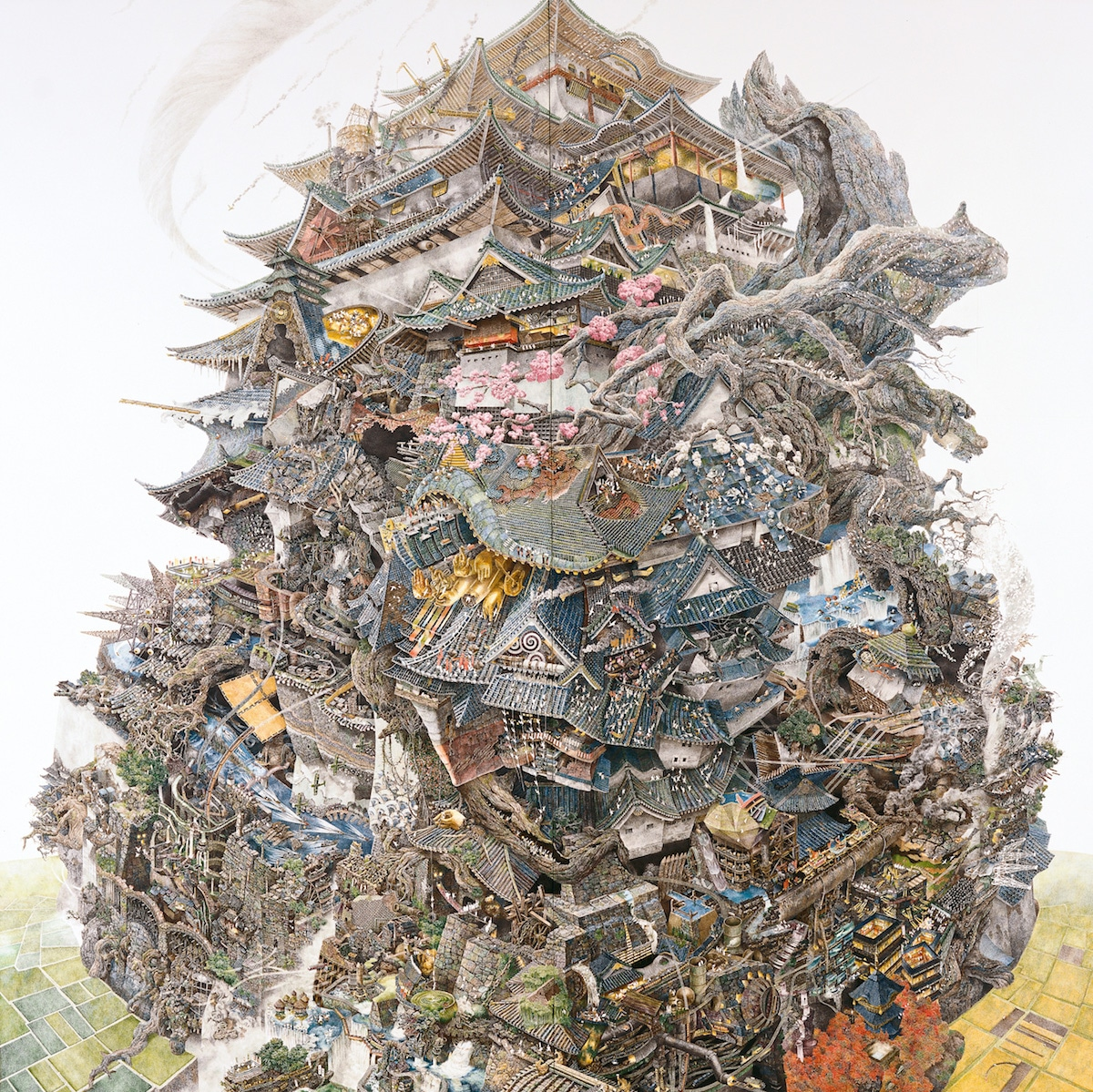 Largescale drawing by Manabu Ikeda
