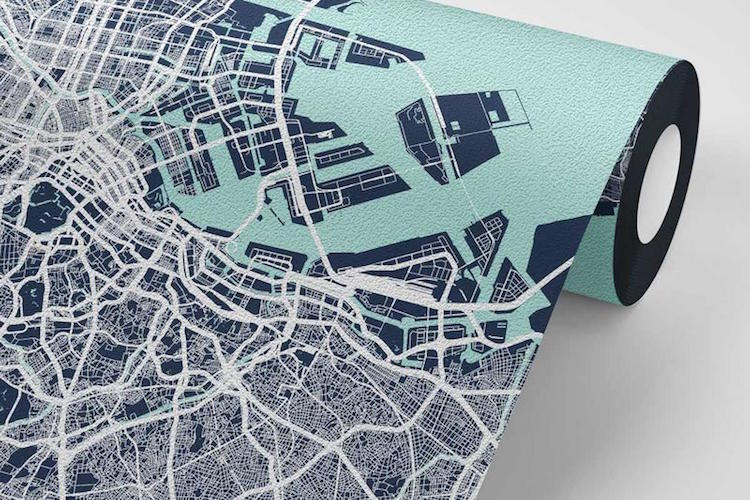 Map Wallpaper by Point Two Design