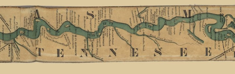 Ribbon Map of the Mississippi River