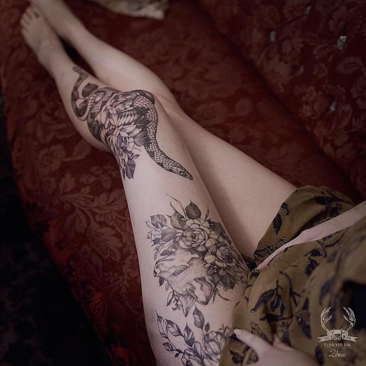 Delicate Tattoos Nature Tattoos by Le jardin de Zihwa