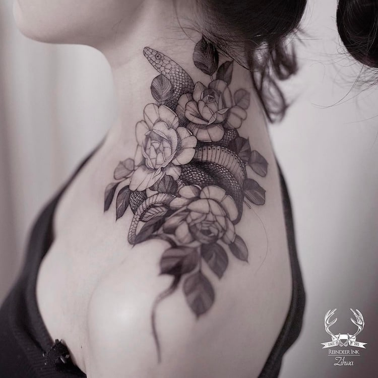 Delicate Tattoos Nature Tattoos by Le jardin de Zihwa