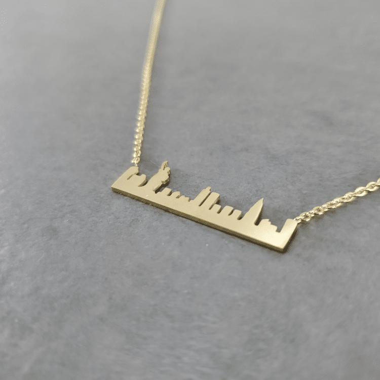 New York Skyline Necklace
