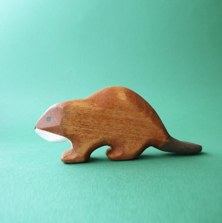 Wooden Beaver Figurine