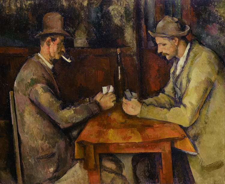 Cezanne Painting of The Card Players