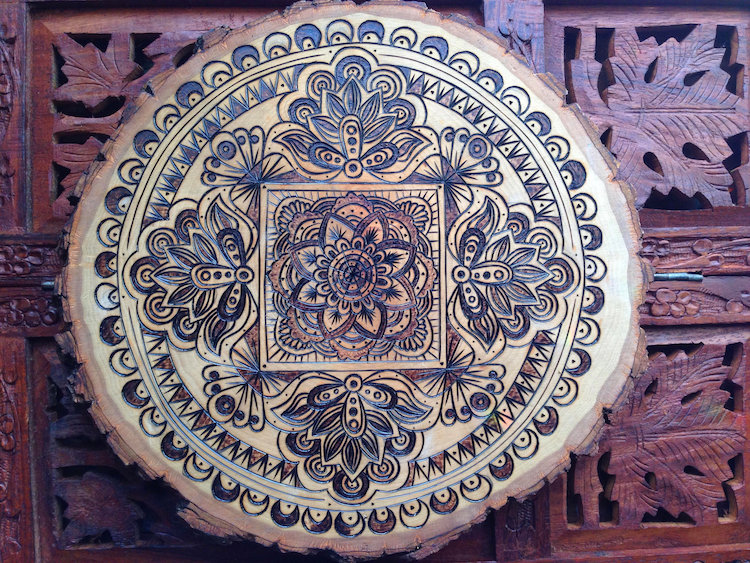 Wood Burned Mandala