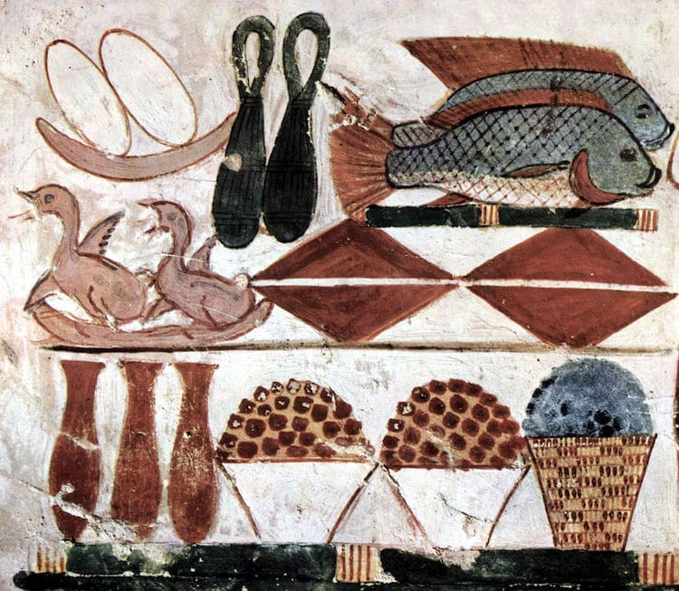 Still-Life Found in the Tomb of Menna (Photo: The Yorck Project via Wikimedia Commons Public Domain)