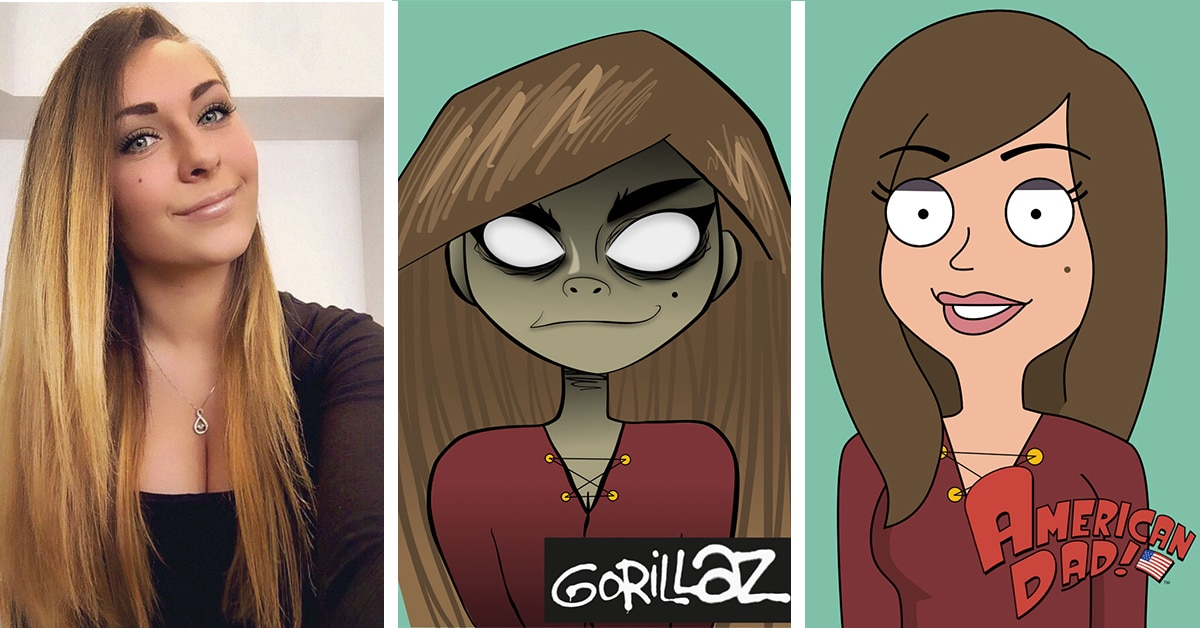 Artist Creates 50 Self Portraits In The Style Of Popular Cartoon