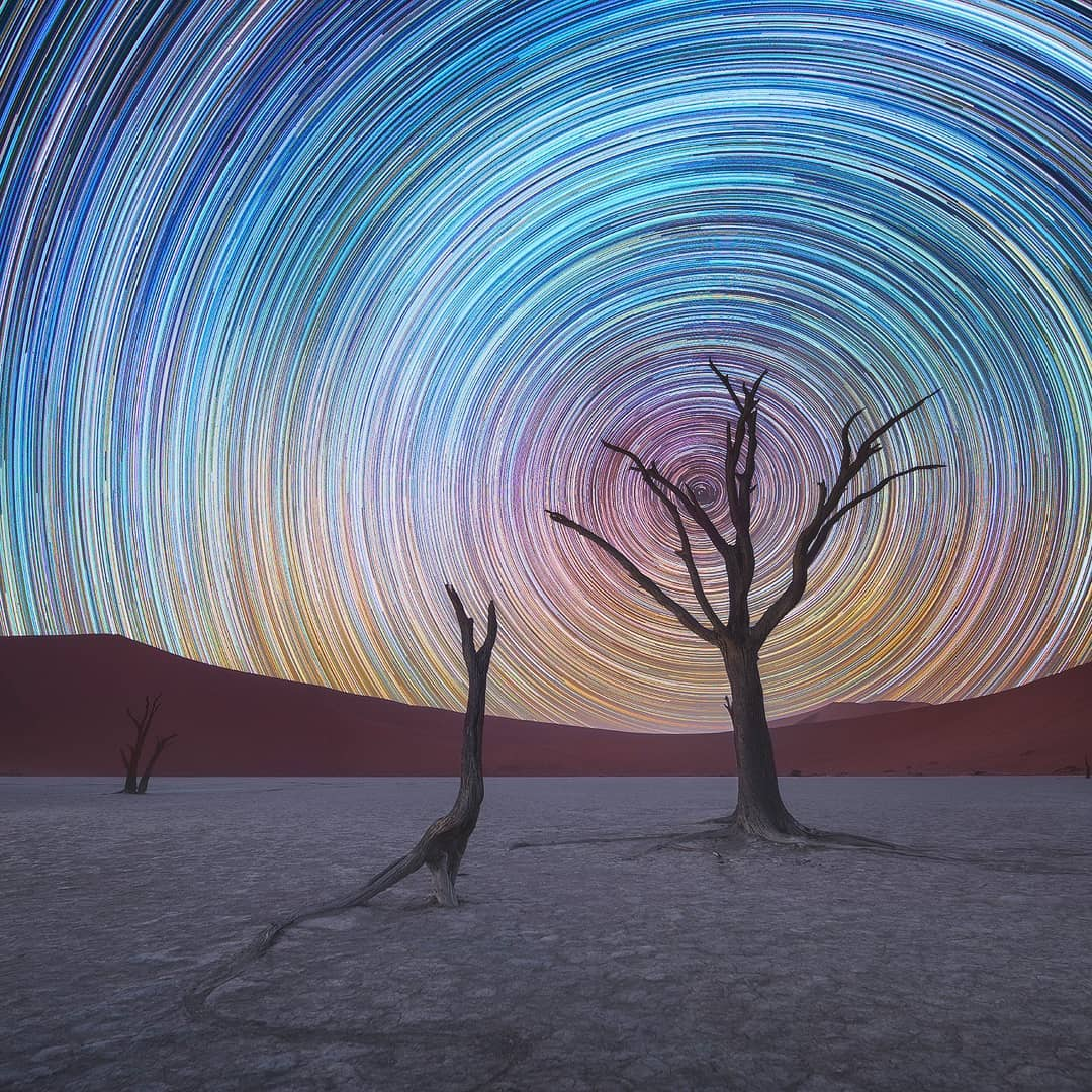 Swirling Star Trails Photography by Daniel Kordan