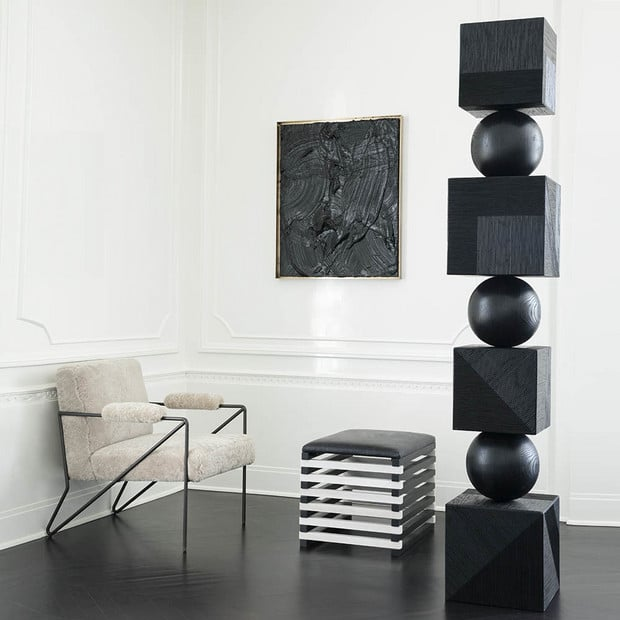 Totem Inspired Home Decor Trend - Stacked Sculpture Pieces