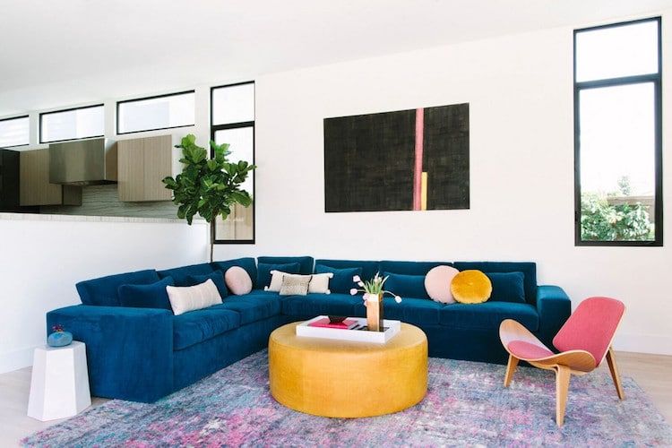 Black Lacquer Design Colorful Manhattan Beach Home Tour
