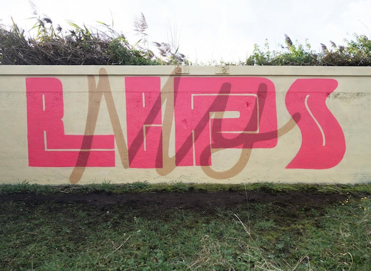 Typography Street Art by Pref