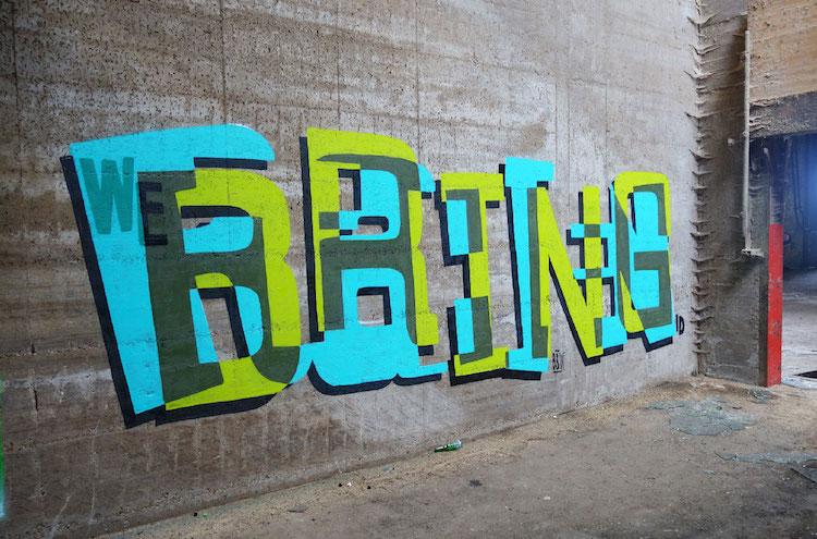 Typography Street Art by Pref