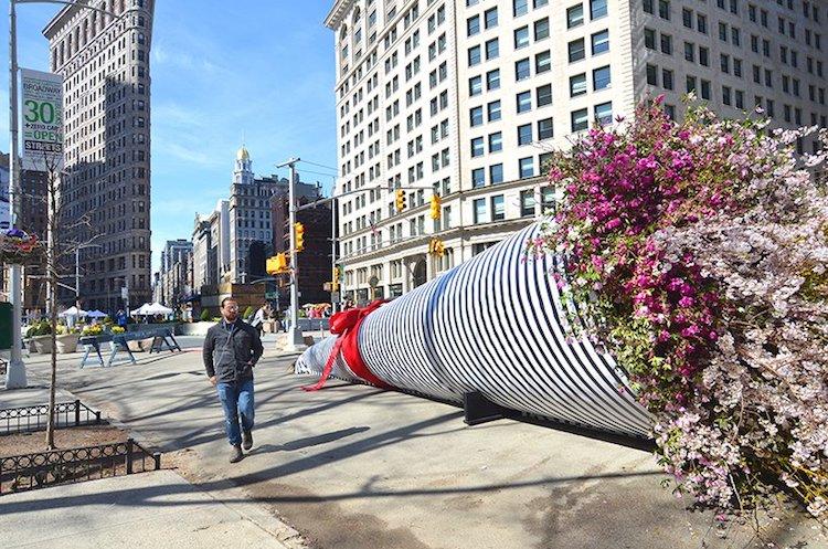 Flower Installation Art by Terrain Work