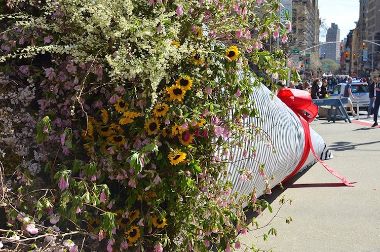 Giant Flower Installation Art Is A Bouquet To New York City