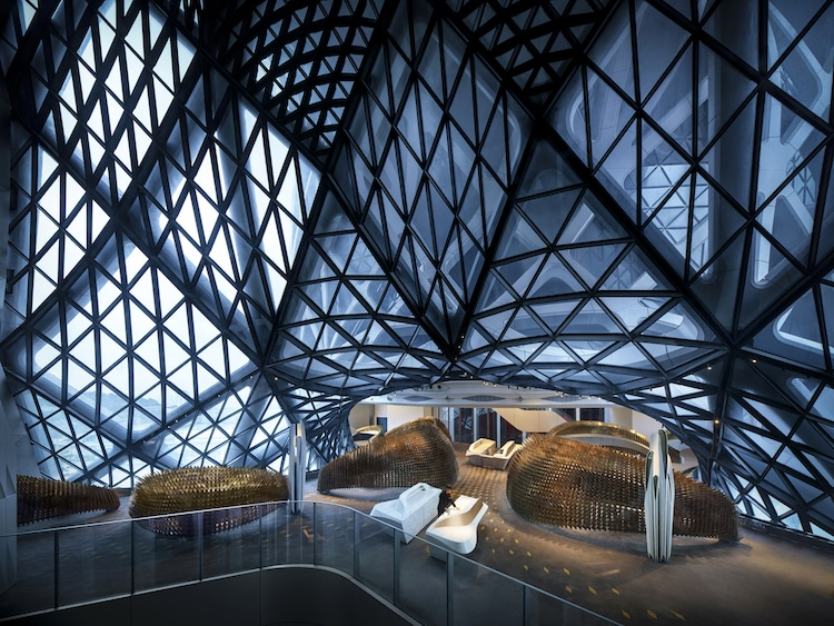 Interior of the Morpheus Hotel in Macau by Zaha Hadid Architects