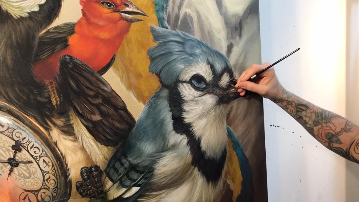 Painting Greg 'Craola' Simkins