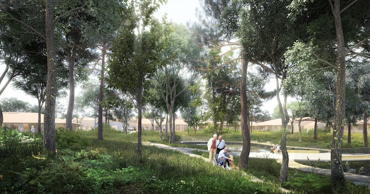 Rendering of Alzheimer's Village in France
