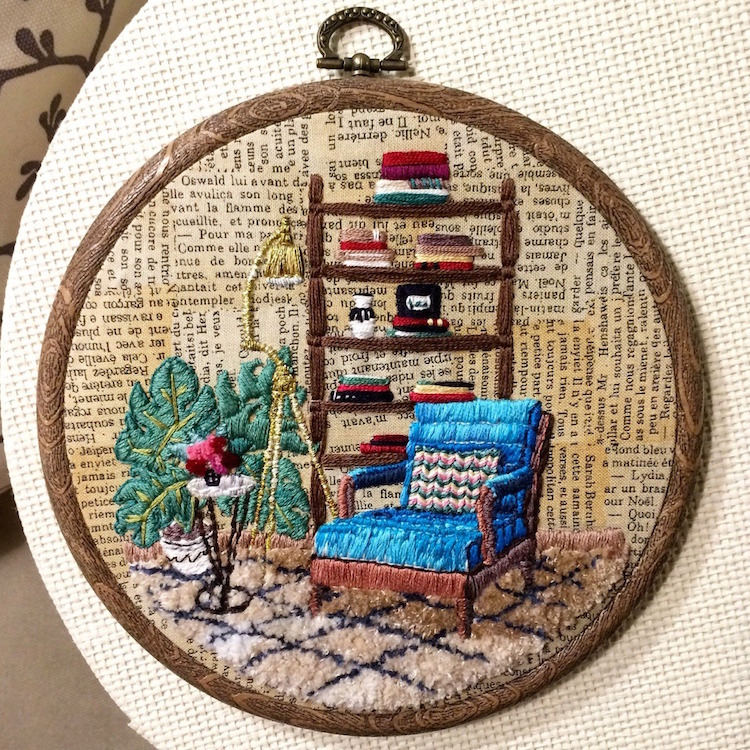 Interior Design Embroidery Designs by Elena Moart