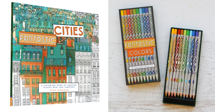 Fantastic Cities Coloring Book Architecture