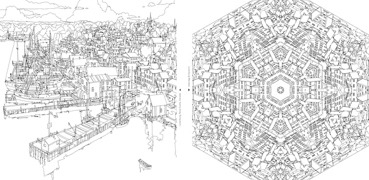 Fantastic Cities Coloring Book Architecture Coloring Book