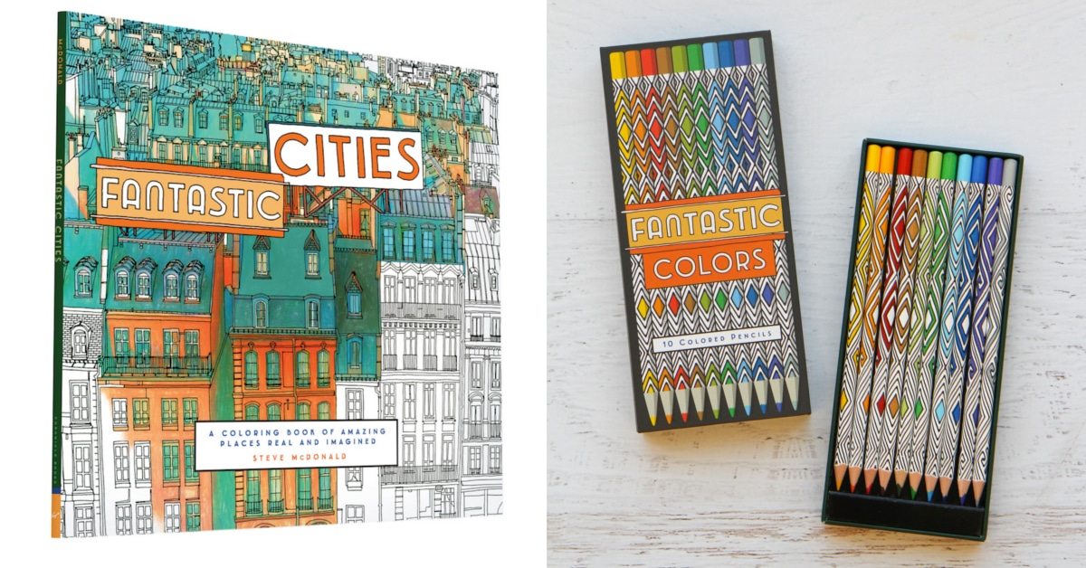 Fantastic Cities Coloring Book Is An Architecture For Adults