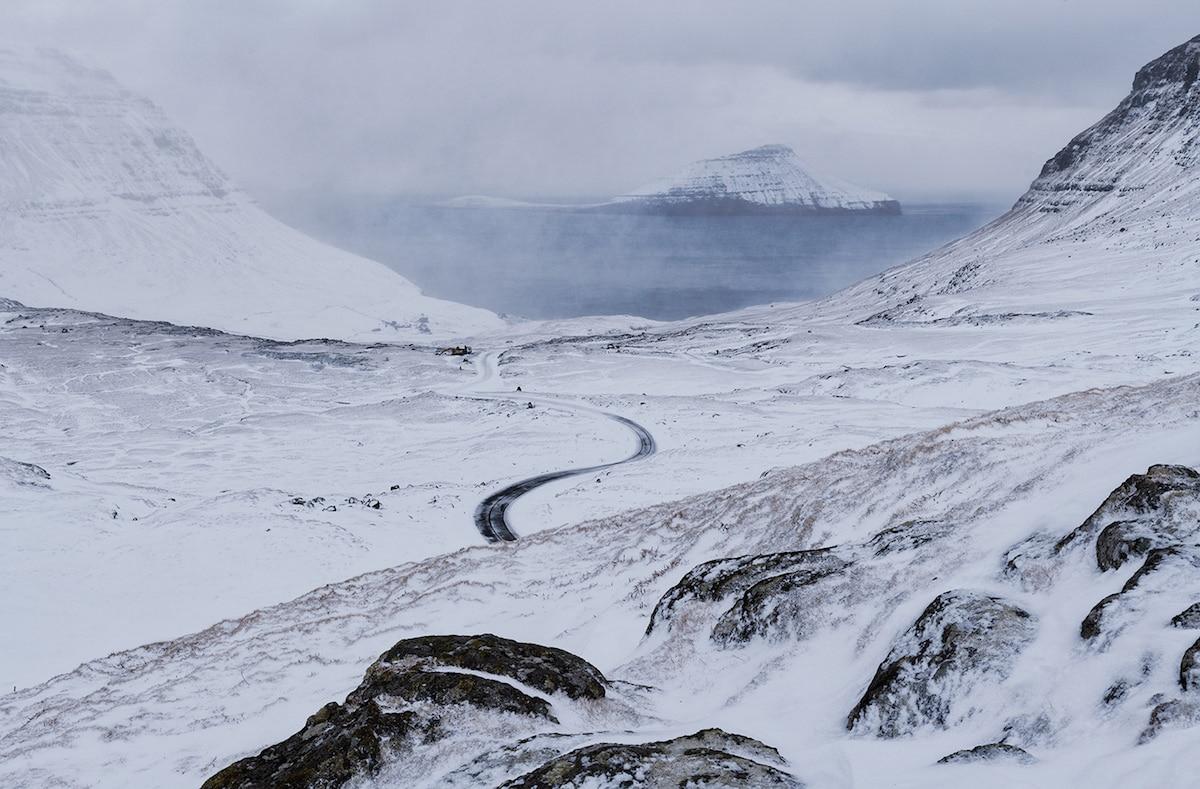 Snow in the Faroe Islands