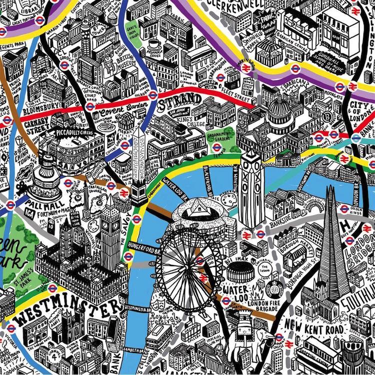 Map Illustration Art by Jenni Sparks