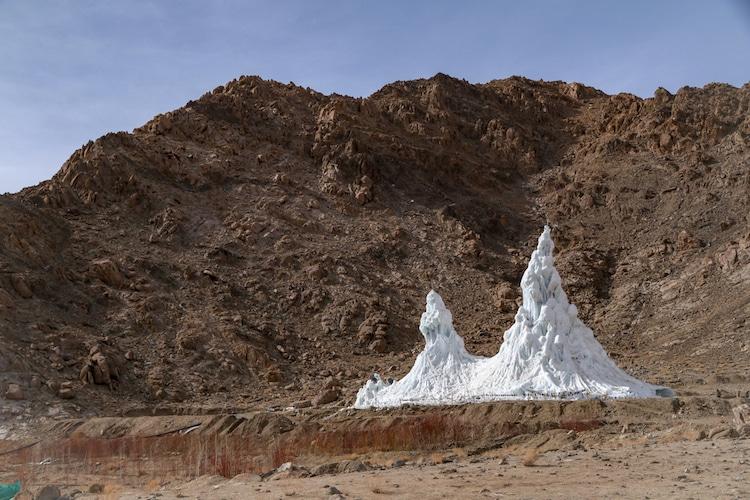 Ice Stupa by Sonam Wangchuk