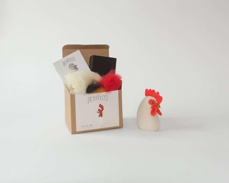 Kit de fieltrado de gallina