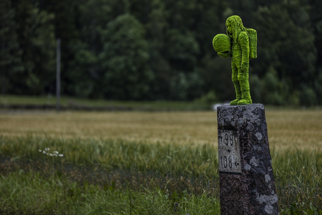 Moss People Sculptures of Children Kim Simonsson
