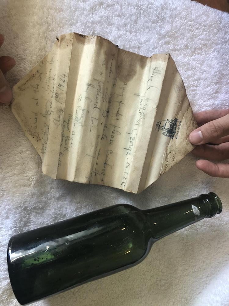 Message in a Bottle Found on Floreana Island