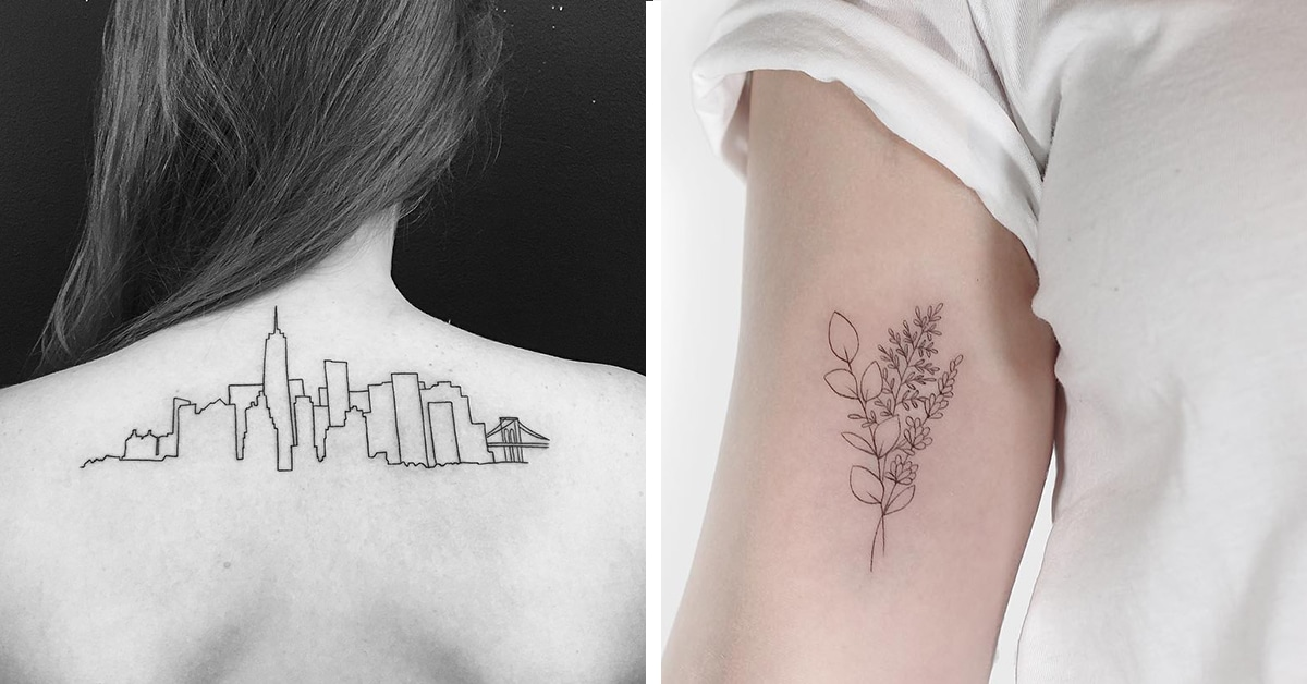 25 minimalist tattoo ideas that prove 39 less is more 39 for Tattoo classes online free