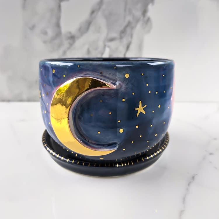Modern Mud Galaxy Ceramics Galaxy Mug