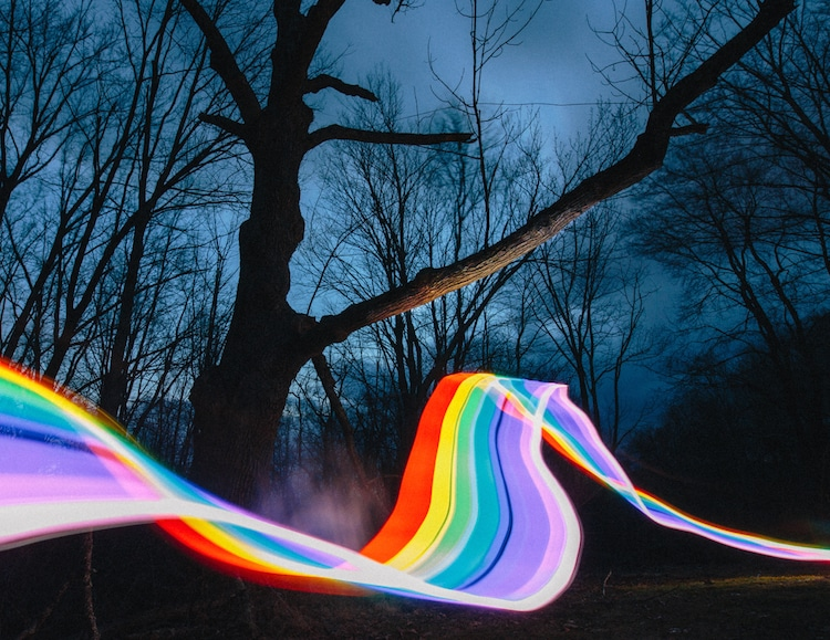 Rainbow Road Long Exposure Photography by Daniel Mercadante