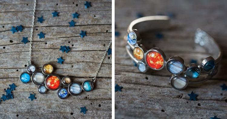 Solar System Jewelry Solar System Bracelet Solar System Necklace Yugen Tribe