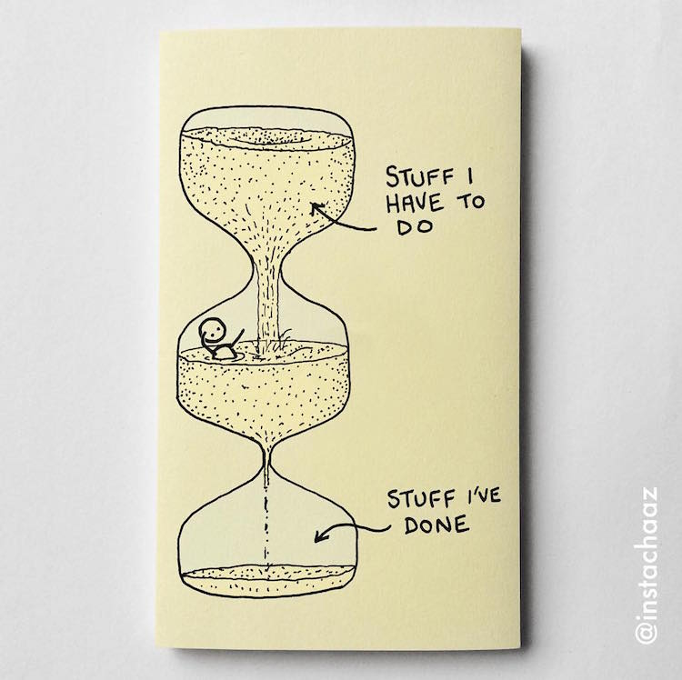Sticky Notes Illustrations by Insta-Chaz