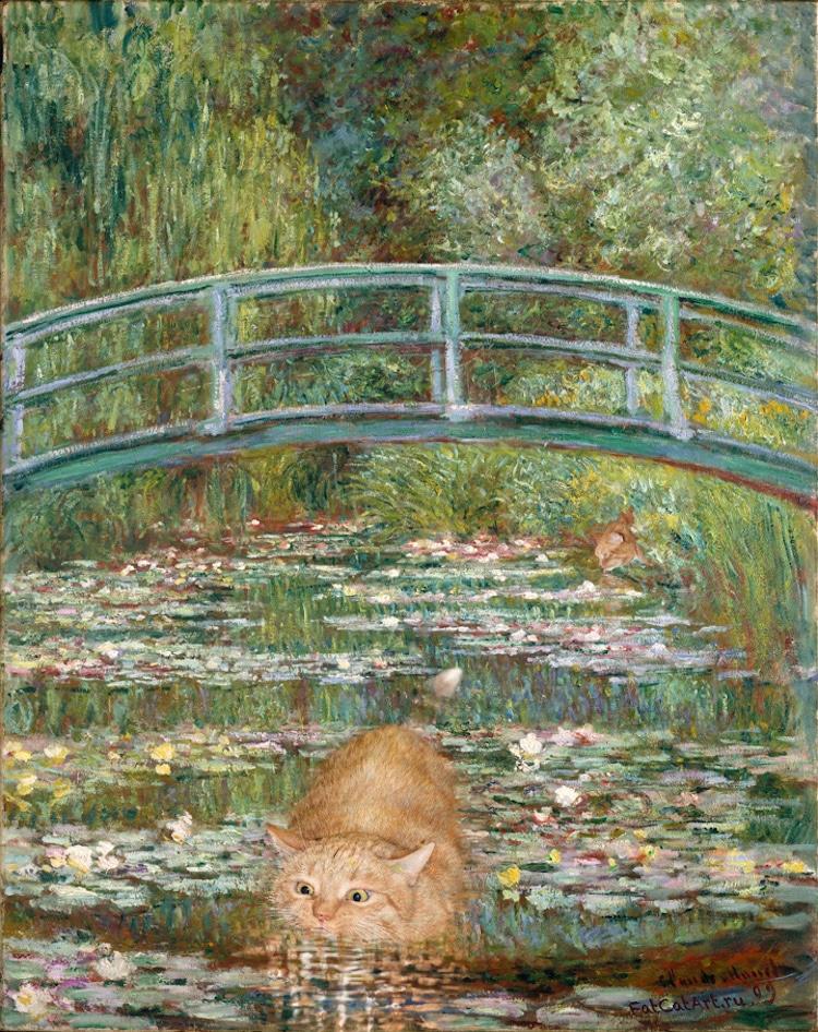 Arte Clásico Recreado con Gato Naranja Gordo por Svetlana Petrova