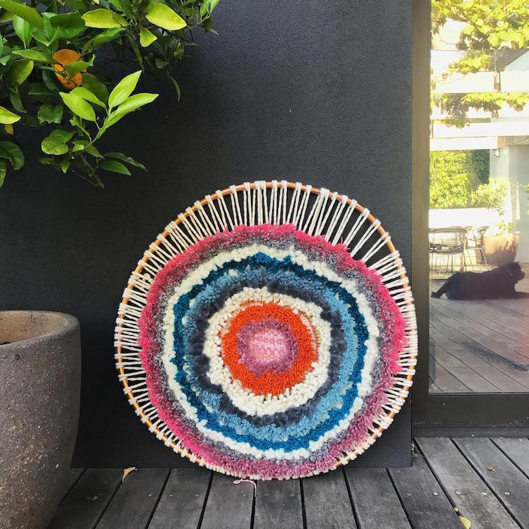 Textile Art Woven Wall Hanging by Tammy Kanat