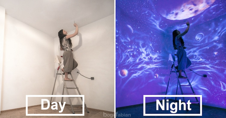 UV Paint Wall Murals by Bogi Fabian