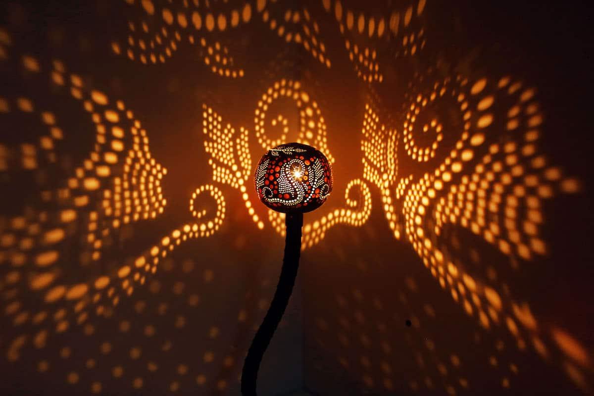 Nymphs Gourd Lamps by Vainius Kubilius