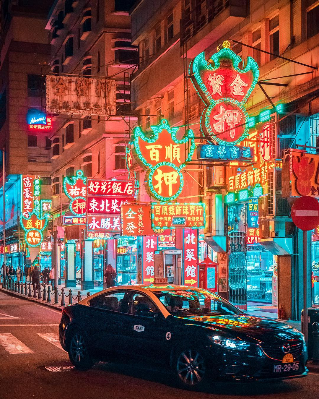 Neon Lights in Hong Kong