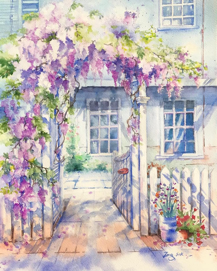 Watercolor Paintings by Jungsook Hyun