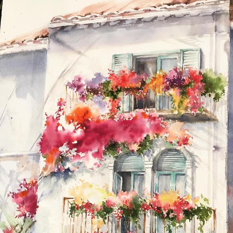 Watercolor Paintings Gallery - T.F. Hempel, painter and