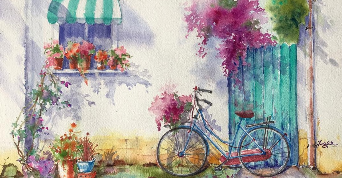 Watercolor Paintings Capture The Beauty Of The California Countryside - Hairstyles For Girls