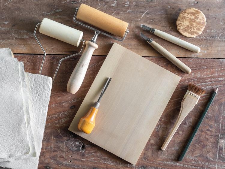 Step By Step Guide To Woodblock Printing And Supplies