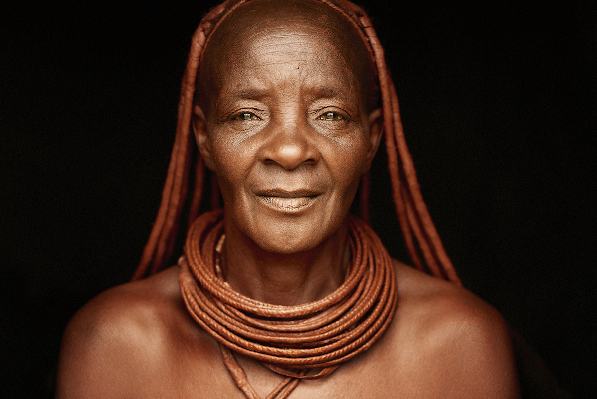 Portrait of Himba Woman from Namibia by Adam Koziol