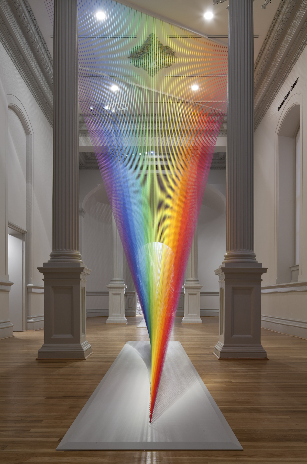 String Art Installation by Gabriel Dawe